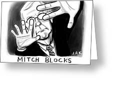 Mitch Blocks Today's Cartoon Greeting Card
