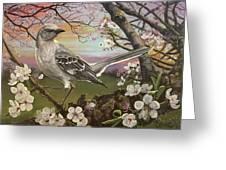Mockingbird Sunset Greeting Card