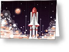 Modern Vectorflat Design Illustration Greeting Card