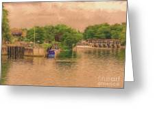 Molesey Lock And Weir Greeting Card