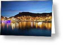 Monaco At Twilight Greeting Card