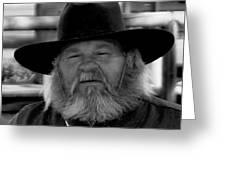 Mono Cowboy Greeting Card