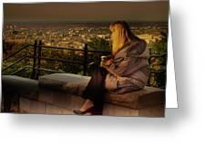 Mont-royal Sunset Greeting Card by Juan Contreras
