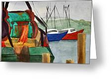 Montauk Dock W Greeting Card