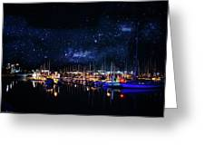 Monterey Bay At Night Greeting Card