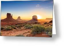 Monument Valley Twilight, Az, Usa Greeting Card