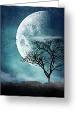 Moon Blues Greeting Card