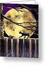 Moon Cats Greeting Card