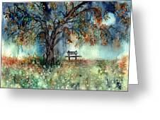 Moonlight Shadows Greeting Card