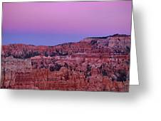 Moonrise Over The Hoodoos Bryce Canyon National Park Utah Greeting Card by Dave Welling
