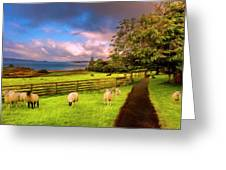 Morning Grazing Painting Greeting Card