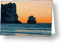 Morro Bay Sunset Greeting Card