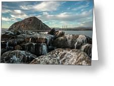 Morro Rock Breakwater Greeting Card by Mike Long