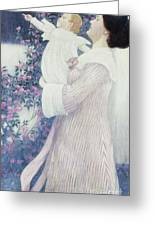 Mother And Child By Wilhelm List Greeting Card