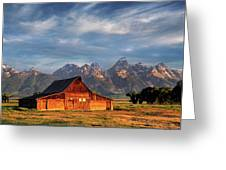 Moulton Barn Morning Light Greeting Card