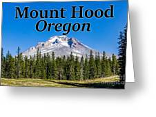Mount Hood Oregon In Fall Greeting Card