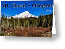 Mount Hood Oregon In Winter 01 Greeting Card