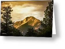 Mount Pagosa Gold Greeting Card
