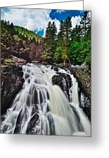 Mount Tremblant Waterfall Greeting Card