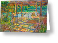 Mountain Lake Shadows Greeting Card