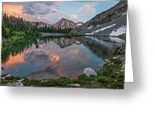Mountain Lake Sunset Greeting Card