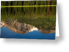 Mountain Reflection In Beirstadt Lake Greeting Card