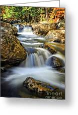 Mountain Stream Waterfall  Greeting Card