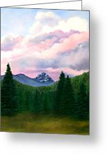 Mountain And Sky Greeting Card
