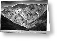 Mountains At Pangong Greeting Card by Whitney Goodey