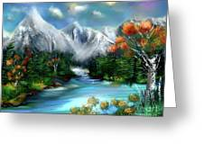 Mountains Majesty Greeting Card