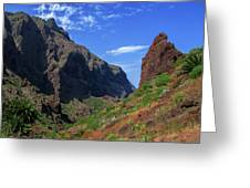 Mountains Of The Teno Massif Near Masca Greeting Card