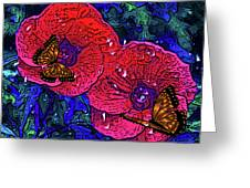 Moving Flowers Greeting Card