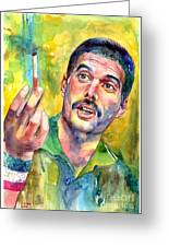 Mr Bad Guy - Freddie Mercury Portrait Greeting Card