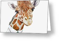 Mr Giraffe Greeting Card by Animal Crew