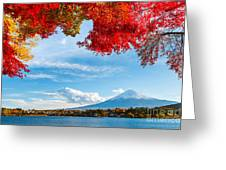 Mt. Fuji In Autumn Greeting Card
