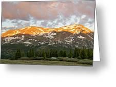 Mt. Lincoln Sunrise Greeting Card