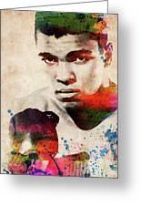 Muhammad Ali Watercolor Portrait Greeting Card