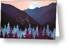 Mulberry Dusk Greeting Card