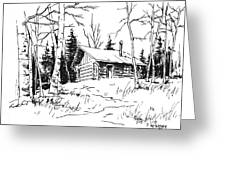My Cabin In The Woods Greeting Card