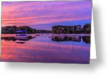 Mystic Lake Sunrise Greeting Card