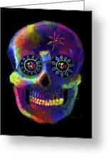 Mystico Sugarskull Of Letters Greeting Card