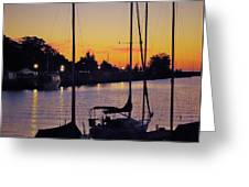 Narrow Sunset Greeting Card