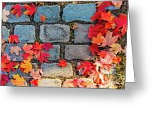 Natural Autumn Leaf Background  Greeting Card