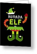Nevada Elf Xmas Elf Santa Helper Christmas Greeting Card