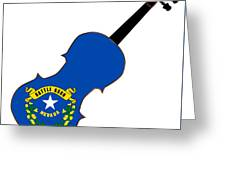 Nevada State Fiddle Greeting Card