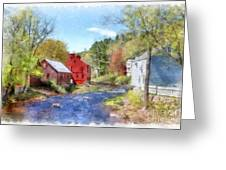 New Boston New Hampshire Watercolor Greeting Card