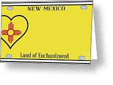 New Mexico State License Plateai Greeting Card