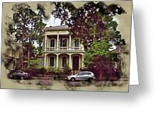 New Orleans Home In Watercolor Greeting Card