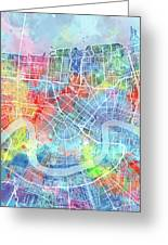 New Orleans Map Watercolor Greeting Card