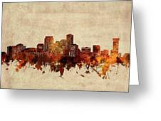 New Orleans Skyline Sepia Greeting Card